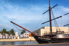 Galleon in Cartagena. CARTAGENA, COLOMBIA - MAY 22: Wooden galleon named the Buccaneer in Cartagena, Colombia on May 22, 2016 royalty free stock images