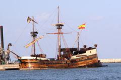 Galleon espanhol foto de stock royalty free