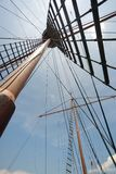 Galleon mat and ropes stock photography