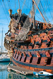 Galleon Neptune. The Galleon Neptune, built for the Roman Polanski film Pirates in 1986 (with Walter Matthau), now moored in Porto Antico, Genoa, Italy royalty free stock images