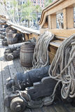 Galleon Neptune main deck Stock Photos