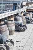 Galleon Neptune main deck Stock Photo