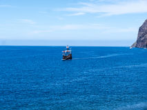 Galleon off Camara de Lobos a fishing village near the city of Funchal and has some of the highest cliffs in the world Stock Photos