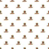Galleon pattern seamless vector. Repeat for any web design stock illustration