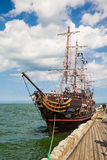 Galleon at the pier Stock Photos