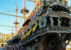 Galleon resting after so many battles Stock Images