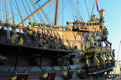 Galleon resting after so many battles Stock Photography