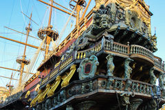 Galleon resting after so many battles Stock Image
