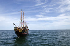 Galleon on the sea Royalty Free Stock Images