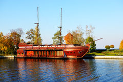 The Galleon ship-restaurant in Mezhigirya Royalty Free Stock Photos