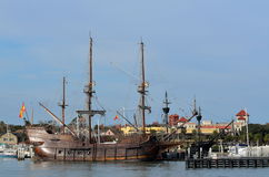 The Galleon Ships Moored Royalty Free Stock Photography