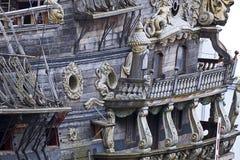 Винтажное galleon, touristic привлекательность в Генуе, Италии Стоковая Фотография RF