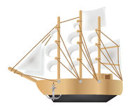 Galleon. A Galleon on a white background stock illustration