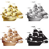 Galleons Royalty Free Stock Photos