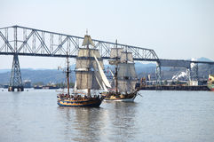Galleons cruising in the Columbia river. Stock Photography