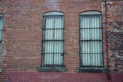 gallerförsedda fönster Arkivfoto