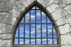 gallerförsett fönster Arkivbild