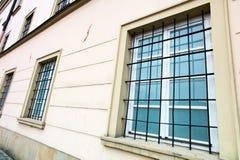 Gallerförsett fönster Arkivbilder