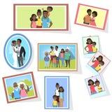 Galleri av familjfoto stock illustrationer