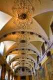 Galleri av gobelänger i Palazzo Borromeo Isola Bella Italy royaltyfria foton
