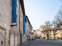 Galleri av modernt och samtida konst i Bergamo royaltyfri fotografi