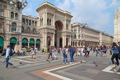 Galleri av Victor Emmanuel II, Milan Royaltyfria Bilder