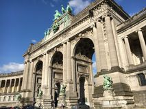 Galleri du Cinquantenaire i Bryssel Royaltyfria Bilder
