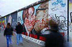 Galleri för östlig sida i Berlin, Tyskland Arkivbilder