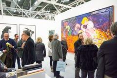 Galleri i en konstmässa Royaltyfria Bilder