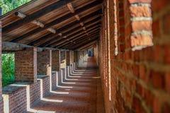 Galleri inom en fästningvägg fotografering för bildbyråer