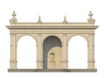 Galleri med joniska pilaster i klassisk stil 3d framför Arkivfoton