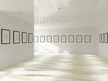 Galleri med tomma bilder stock illustrationer
