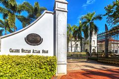 Galleri Sultan Azlan Shah i Kuala Kangsar, Malaysia royaltyfri fotografi