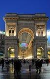Galleri Vittorio Emanuele arkivbilder