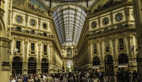 Galleri Vittorio Emanuele II royaltyfria bilder