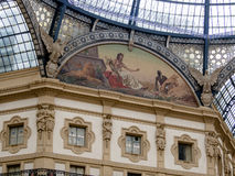 galleria ΙΙ του Emanuele vittorio του Μιλάνου Στοκ εικόνα με δικαίωμα ελεύθερης χρήσης