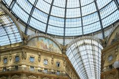 galleria ΙΙ του Emanuele vittorio Στοκ Εικόνες