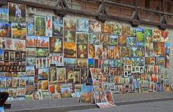 Galleria all'aperto quasi i mura di cinta di Cracovia Fotografia Stock