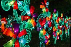 Galleria cinese del mulino a vento del nuovo anno di festival di lanterna Fotografie Stock Libere da Diritti
