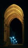 Galleria con le lampade della stella tramite il filtro di raffreddamento Immagine Stock Libera da Diritti