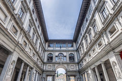 Galleria degli Uffizi muzeum w Florencja, Włochy Obraz Stock