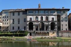 Galleria Dei Uffizi and Arno river Stock Photography