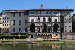 Galleria Dei Uffizi i Arno rzeka Fotografia Stock