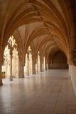 Galleria del convento del monastero di Jeronimos Fotografia Stock
