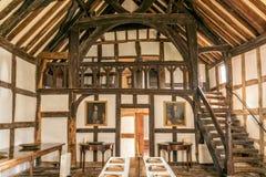 Galleria del ` dei menestrelli, proprietà terriera di Brockhampton, Herefordshire, Inghilterra immagine stock libera da diritti