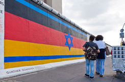 Galleria del lato est a Berlino, Germania Immagine Stock Libera da Diritti