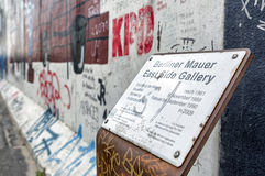 Galleria del lato est Muro di Berlino , La Germania Immagine Stock Libera da Diritti