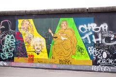 Galleria del lato est Muro di Berlino , La Germania Fotografia Stock