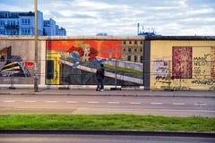 Galleria del lato est Muro di Berlino , La Germania Fotografia Stock Libera da Diritti