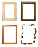 Galleria della decorazione di arte del blocco per grafici di legno Fotografia Stock Libera da Diritti
